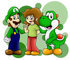 AT with LuigiYoshi2210: Green Team!! by SuperLakitu