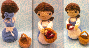 Belle Amigurumi from Disney Beauty and the Beast 2 by Spudsstitches