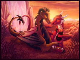 Dragon Love by DolphyDolphiana