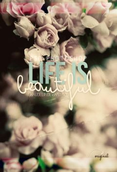 Life is beautiful - PSD by coral-m