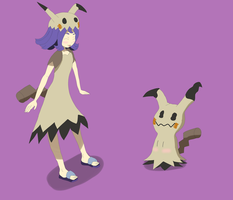 Acerola and Mimikyu by DLeagueman