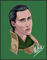 Another portrait of (MCU) Loki by MellorianJ