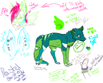 Peastel Reference Sheet (2014 March version) by MoonLightNest