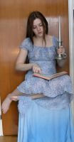 Reading With Candle by Eirian-stock