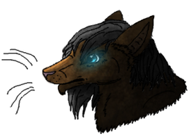 Anthro headshot and playing with shading and light by xX-NIGHTBANEWOLF-Xx