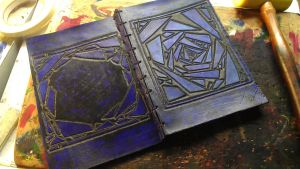 Blue - Leather Book by StudioGruhnj