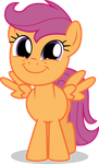 Scootaloo Is All Smiles by TomFraggle