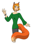 Fox Girl -Facebook request by CrystalRobot
