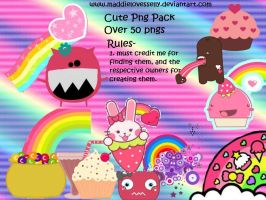 Cute Png Pack by MaddieLovesSelly