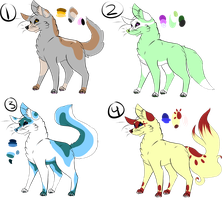 Wolf Adopts (OPEN) by BrinxX-Creations