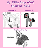 Lord CadaverXValier MLP Offspring meme by The-Clockwork-Crow