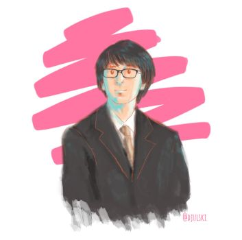 Harry in suits and rectangular glasses by littleduth
