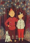 TINTIN, SNOWY N CHANG by toniart57