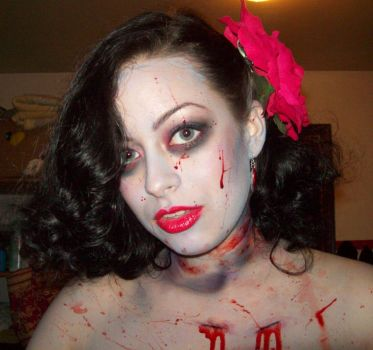 Zombie Pin Up 4 by Quiet-Storm-Stock