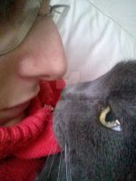 Me and my beautiful cat by Emmy1891