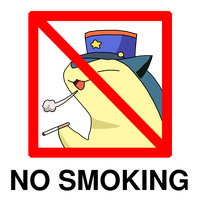 Officer Typhlosion for No smoking day by RedeyeLatios