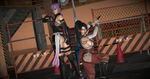 Pose - Ayane and Momiji in 'Dragon and Butterfly' by Lhacrimosa