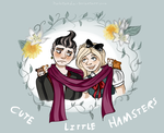 CUTE LiTtLE hAmStErS by halopanda