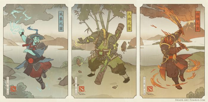 Dota 2 - Ukiyo-e Three Spirits by swadeart