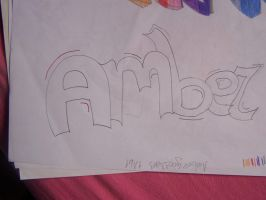 My Graffiti Name (other trials) by 9-AmBeR-6