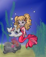 Mermaid toddler colored by minathene