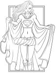 Supergirl Lineart by MasterJazzman