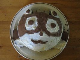 Racoon cake by 32d
