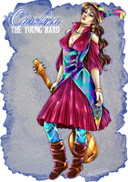Comm. Carolina The Young Bard by CristianaLeone