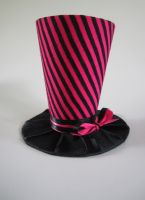 Black and Pink Striped Mini Top Hat by MelissaRTurner