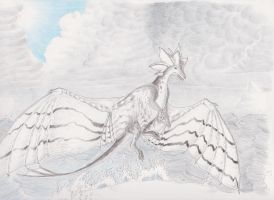 Arctic dragon by SilverWolfi