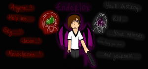Enderlox the Story Cover by MonochromeFuji