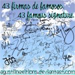 Firmas de famosos PNG//Famous signatures in PNG by AguustiinaEditions