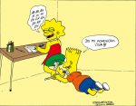 Bart tickles Lisa by solletickle