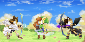 Pits vs Toon link by cuteygirl226
