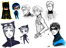 DC Sketch Dump by Mikiku