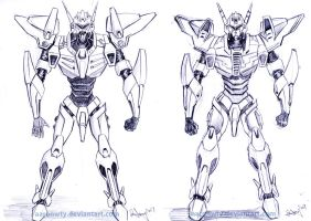 Robot Designs by aaronwty