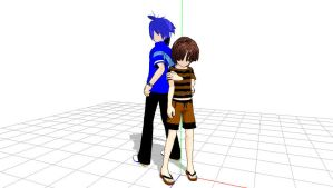 MMD Newcomers Mordecai and Rigby Download by Nanashione
