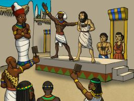 Egyptian Slave Auction by DaBrandonSphere