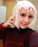 Juuzou make-up test by titania-cosplay