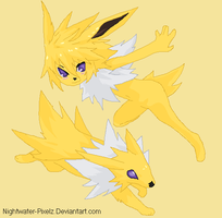 Jolteon Anthro Girl by Dinalfos5