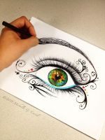 Eye am unfolding by artisticalshell