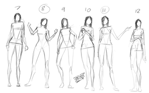 [8] Standing Sketches 2 by SCDMuse