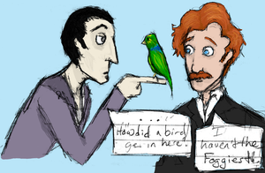 Holmes, Watson, and The Bird by MyDearWatson