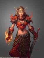 Female Blood Elf Mage by Arsenal21