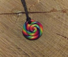 Rainbow swirl necklace by MeticulousBlue