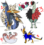 Creature Auctions CLOSED by HazeAdopts