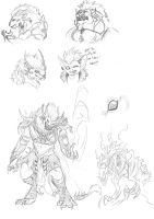 GW Sketchdump round 2 by BlackChaos666