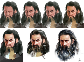 Thorin Oakenshield - Step by step by daimoc-art