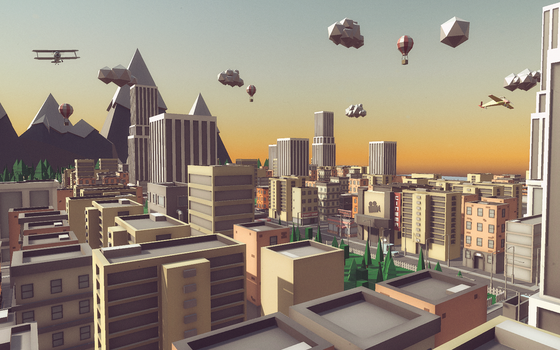 Low poly cityscape by ionut92
