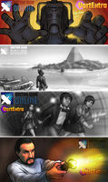 Doctor Who Online VortExtra Teaser Banners by Niki-UK